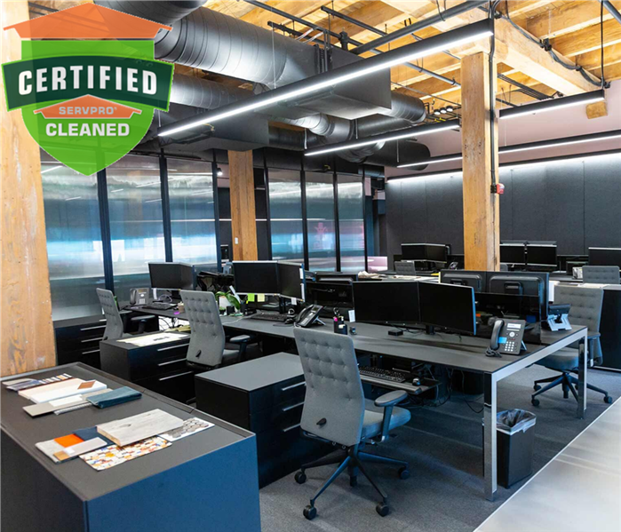 A Certified: SERVPRO Cleaned Office