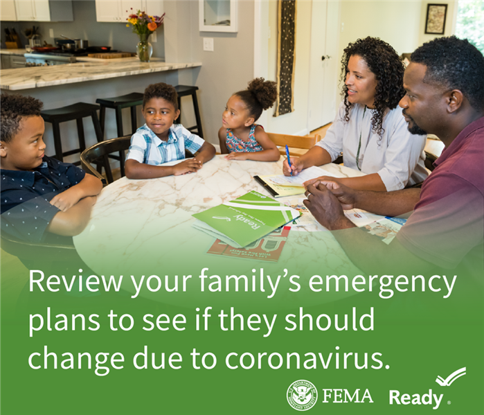 Review your family's emergency plans and make any needed changes due to Coronavirus